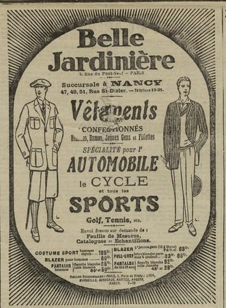 Vêtements Belle Jardinière