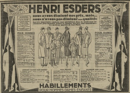 Vêtements Henri Esders