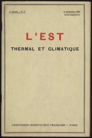 L'Est thermal et climatique : organe de la Fédération thermale et climatiq…