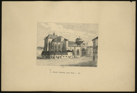 Église d'Épinal (Côté Nord) – 1830