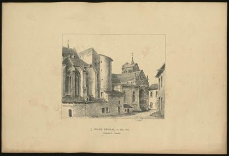 Eglise d'Epinal , 20 mai 1825 d'après C. Pensée