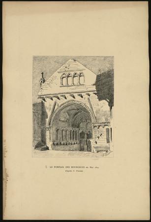 Le portail des Bourgeois en mai 1825 d'après C. Pensée