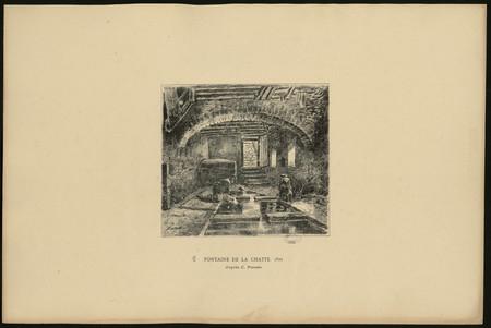 Fontaine de la Chatte, 1825 d'après C. Pensée