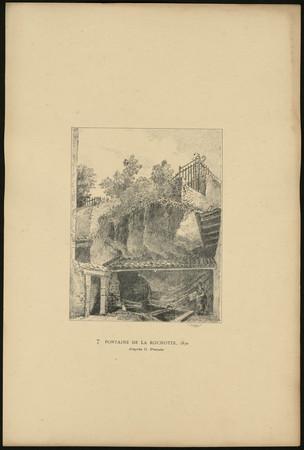 Fontaine de la Rochotte, 1830 d'après C. Pensée