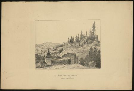 Pont-levis du château d'après Eugène Pensée
