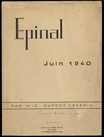 Epinal, juin 1940