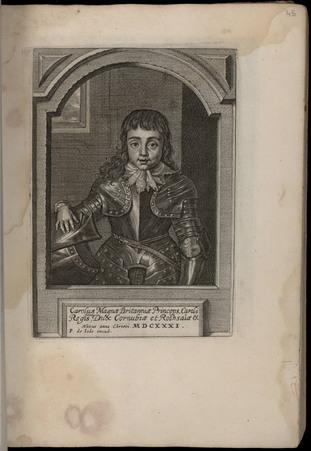Carolus Magnae Britanniae Princeps, Caroli Regis filius, dux Cornubiae et …