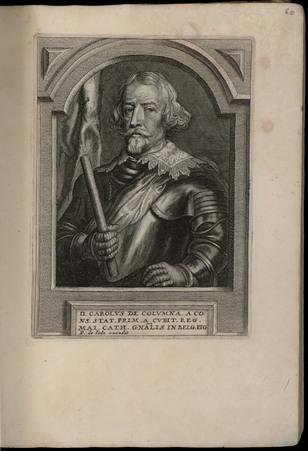 D. Carolus de Columna. A cons. Stat. Prim. a. Cubit. Reg. Mai. Cath...