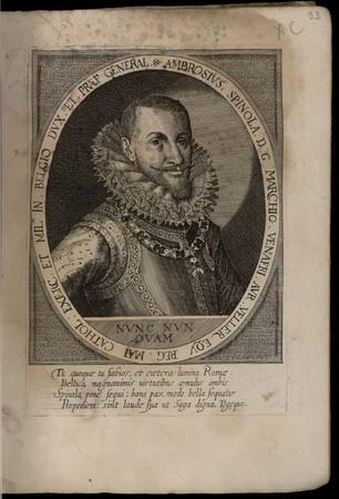 Ambrosius Spinola D. G. Marchio Venafri. Aur. Veller. Equ. Reg. Mai. Catho…