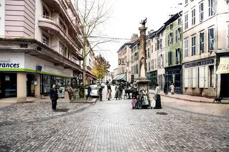 Épinal, le Pinau et rue du Boudiou