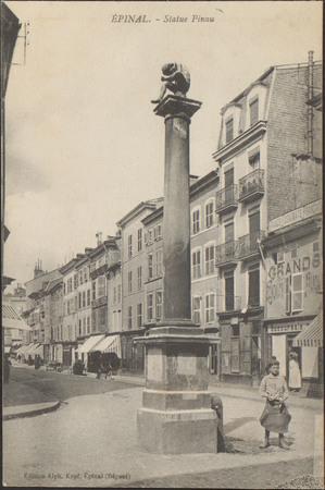 Épinal, Statue Pinau
