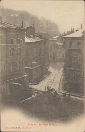 Épinal, Par temps de neige