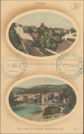 Épinal, Le Chemin des Princes et Saint-Antoine, Vue vers la Vallée Saint-A…