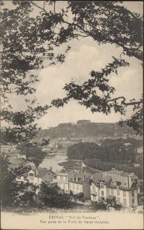 """Épinal, """"Nid de Verdure"""", Vue prise de la Forêt de Saint-Antoine"""