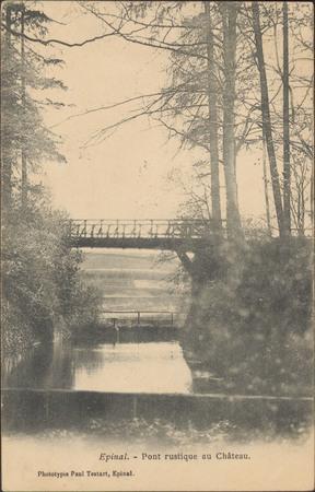 Épinal, Pont rustique au Château.