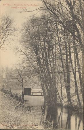 Épinal, Passerelle du parc Leclerc, Route de Golbey