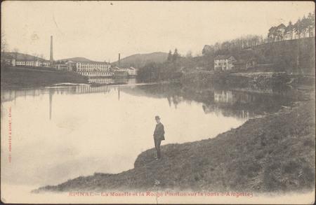 Épinal, La Moselle et la Roche pointue sur la route d'Archettes