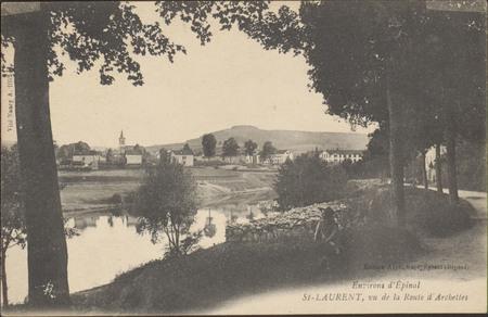 Environs d'Épinal, St Laurent, vu de la route d'Archettes