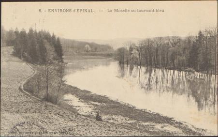 Environs d'Épinal, La Moselle au tournant bleu