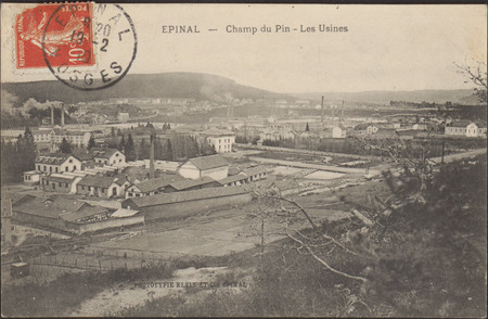 Épinal, Champ du Pin, Les Usines