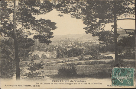 Épinal, Nid de Verdure, Sur le Chemin de Beneveau (Echappée sur Vallée de …
