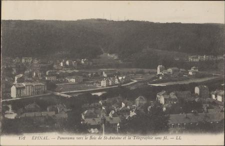 Épinal, Panorama vers le Bois de St Antoine et la Télégraphie sans fil