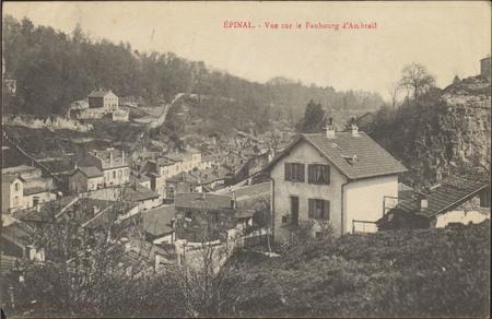 Épinal, Vue sur le Faubourg d'Ambrail