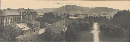La Ville d'Épinal, vue de l'Institution Saint-Joseph