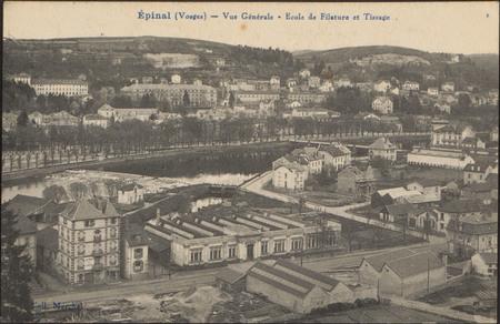 Épinal (Vosges), Vue générale, École de filature et tissage
