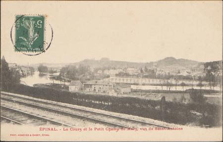Épinal, Le Cours et le Petit Champs de Mars, vue de Saint-Antoine