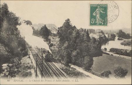Épinal, Le Chemin des Princes et Saint-Antoine