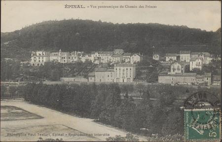 Épinal, Vue panoramique du Chemin des Princes