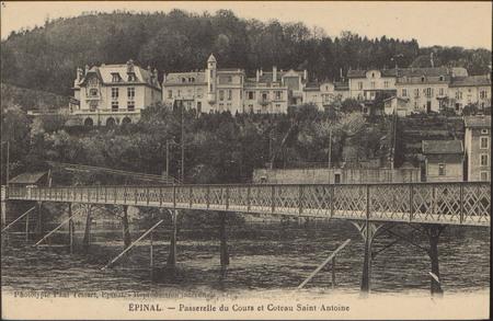Épinal, Passerelle du Cours et Coteau Saint Antoine