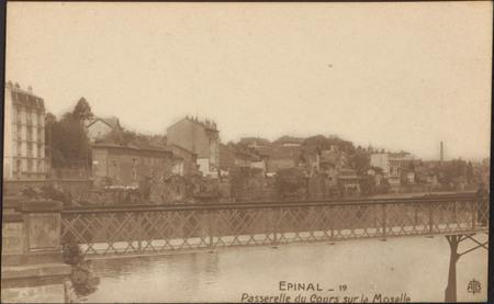 Épinal, Passerelle du Cours sur la Moselle