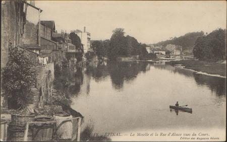 Épinal, La Moselle et la rue d'Alsace vues du Cours