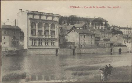 Épinal, Vue de la Moselle, rive gauche