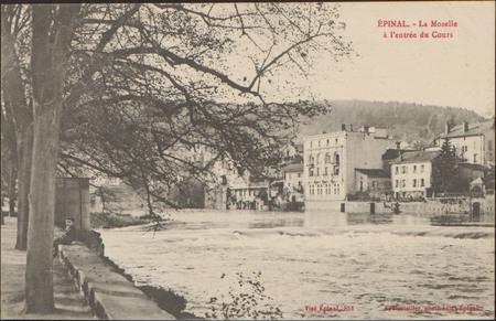 Épinal, La Moselle à l'entrée du Cours