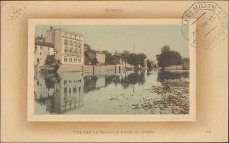 Épinal, Vue sur la Moselle prise du Cours