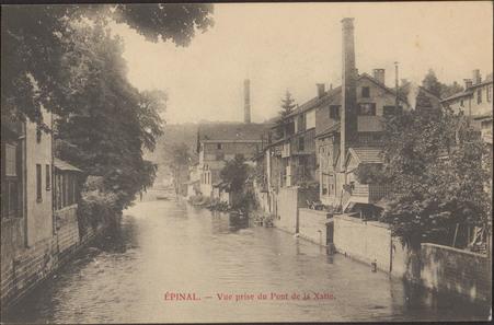 Épinal, Vue prise du Pont de la Xatte