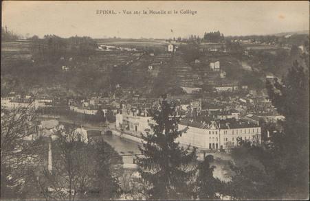 Épinal, Vue sur la Moselle et le Collège