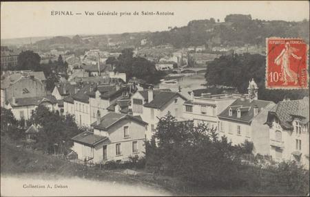 Épinal, Vue générale prise de Saint-Antoine