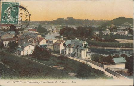 Épinal, Panorama pris du Chemin des Princes