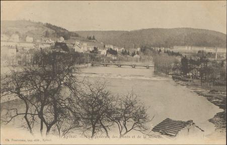 Épinal, Vue générale des Ponts et de la Moselle