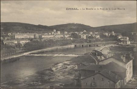Épinal, La Moselle et le Pont de la Loge Blanche