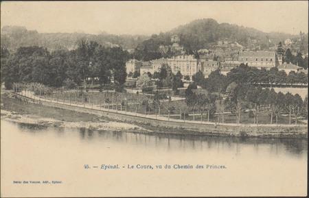Épinal, Le Cours, vu du Chemin des Princes