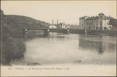 Épinal, La Moselle et le Côteau de la Vierge