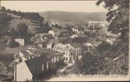 Épinal, Vue panoramique du Faubourg d'Ambrail