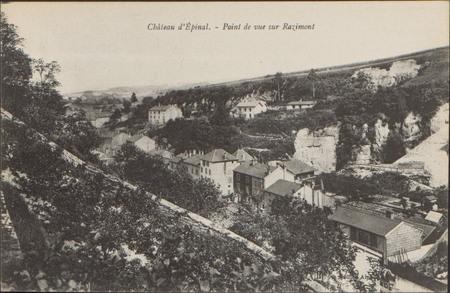 Château d'Épinal, Point de vue sur Razimont