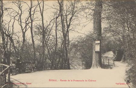 Épinal, Entrée de la Promenade du Château