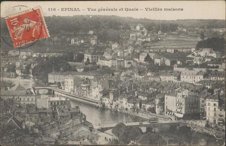 Épinal, Vue générale et Quais, Vieilles maisons